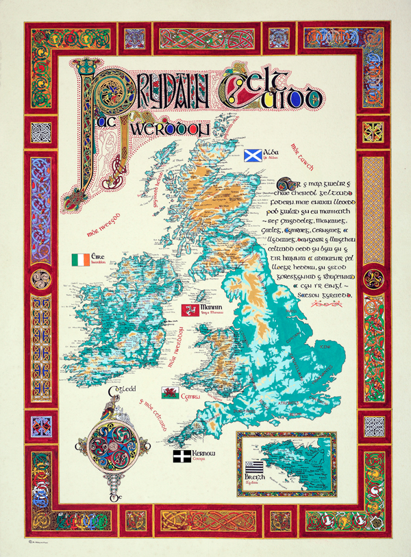 Map of Celtic Nations